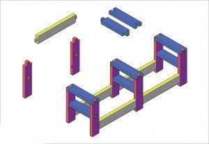 Fabriquer son établi dans L'Atelier etabli-cedric-plan-axo-300x207