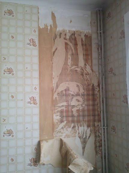 les jedric bricolent d collage papier peint cuisine