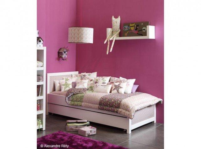Idee deco chambre fille rose et noir - Couleur des chambres des filles ...